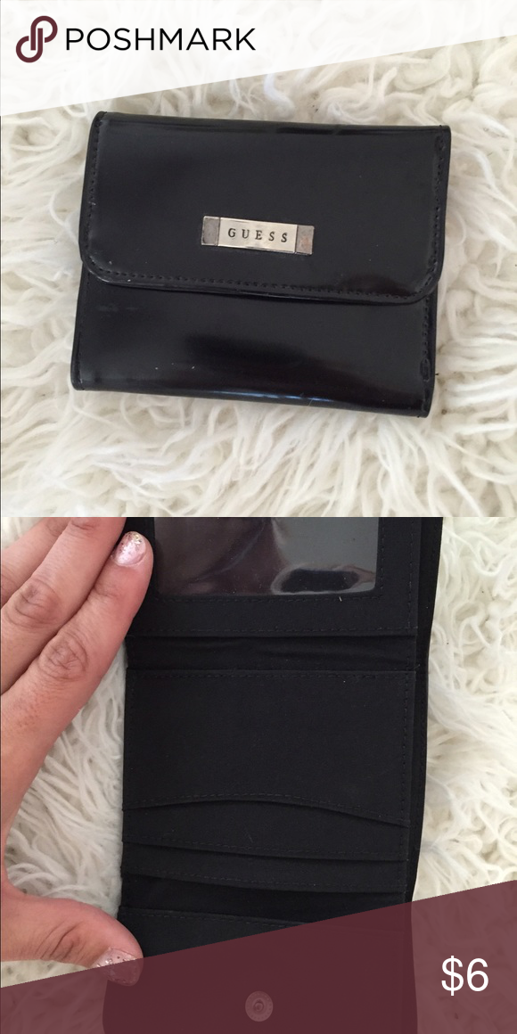 GUESS wallet Black Guess wallet. Never used! Authentic lol GUESS Bags Wallets