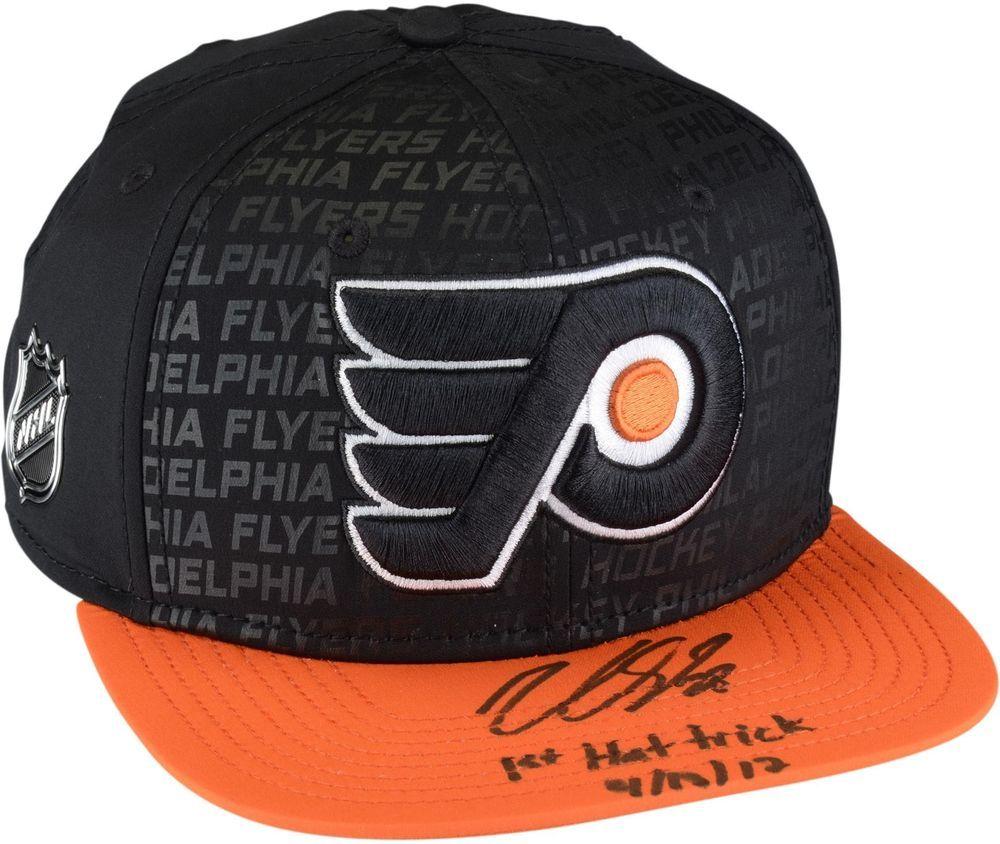 ef2b80834fd93 Autographed Claude Giroux Flyers Hat Fanatics Authentic COA Item 9143628