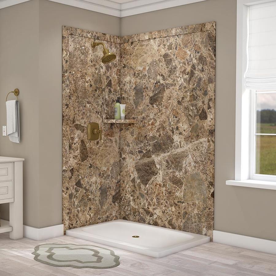 Flexstone Elegance 36 In X 48 In X 80 In Corner Shower Wall