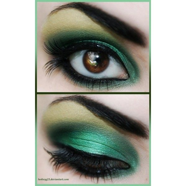 Pinterest / Search results for green smokey eye ❤ liked on Polyvore featuring beauty products, skincare, eye care, eyes and makeup