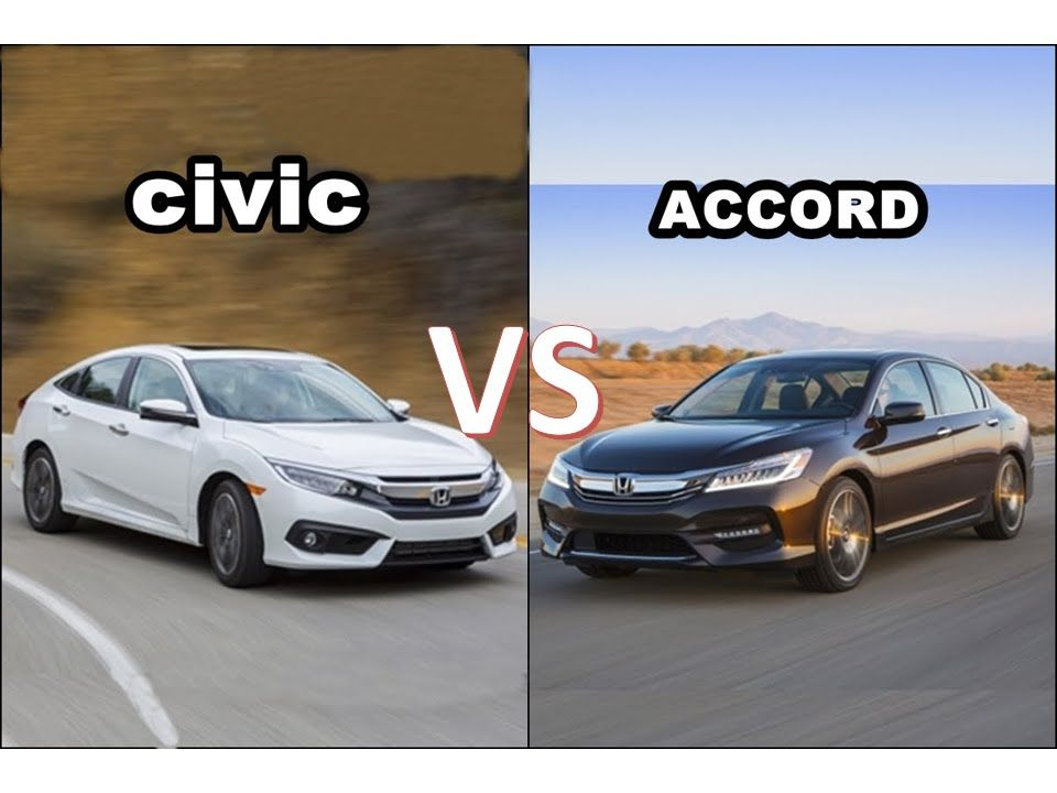 2016 Honda Accord Vs Civic Comparison Interior Exterior 201