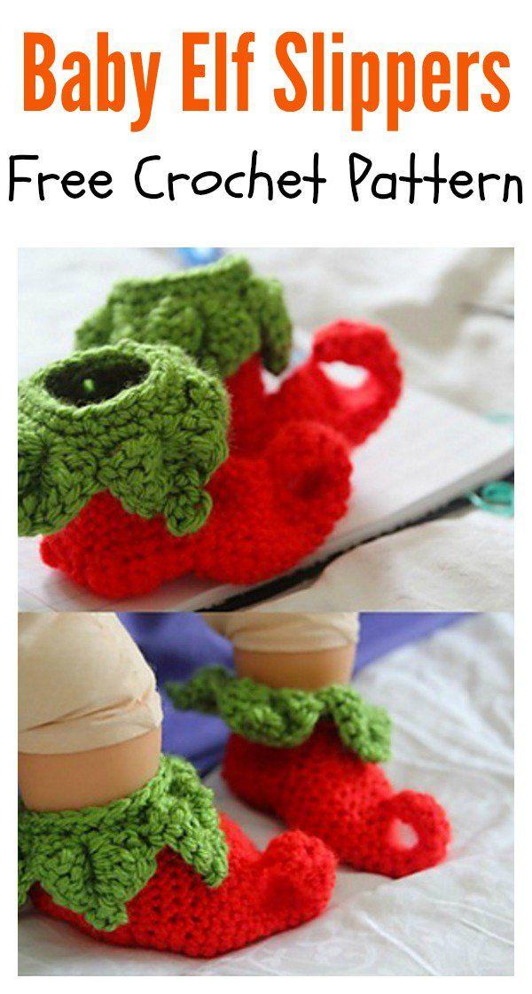 Elf Slippers Free Crochet Patterns | Pinterest | Kinderkleidung ...