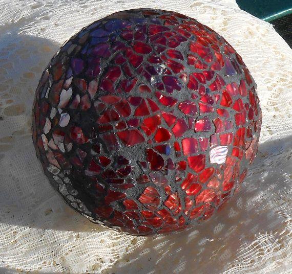 Mosaic Balls 3 Crackle Glass Mirror Mirrored Carpet Ball Decoration Bowls Flowers Red Set 4 New Reduced 12 08 Mosaik Basteln