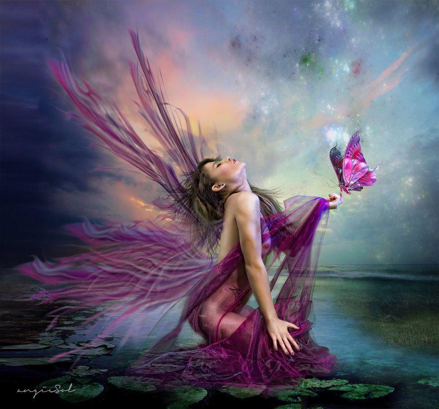 Pink Fairy  Solsan On Deviantart  Fairy  Fairy, Fairy -8613