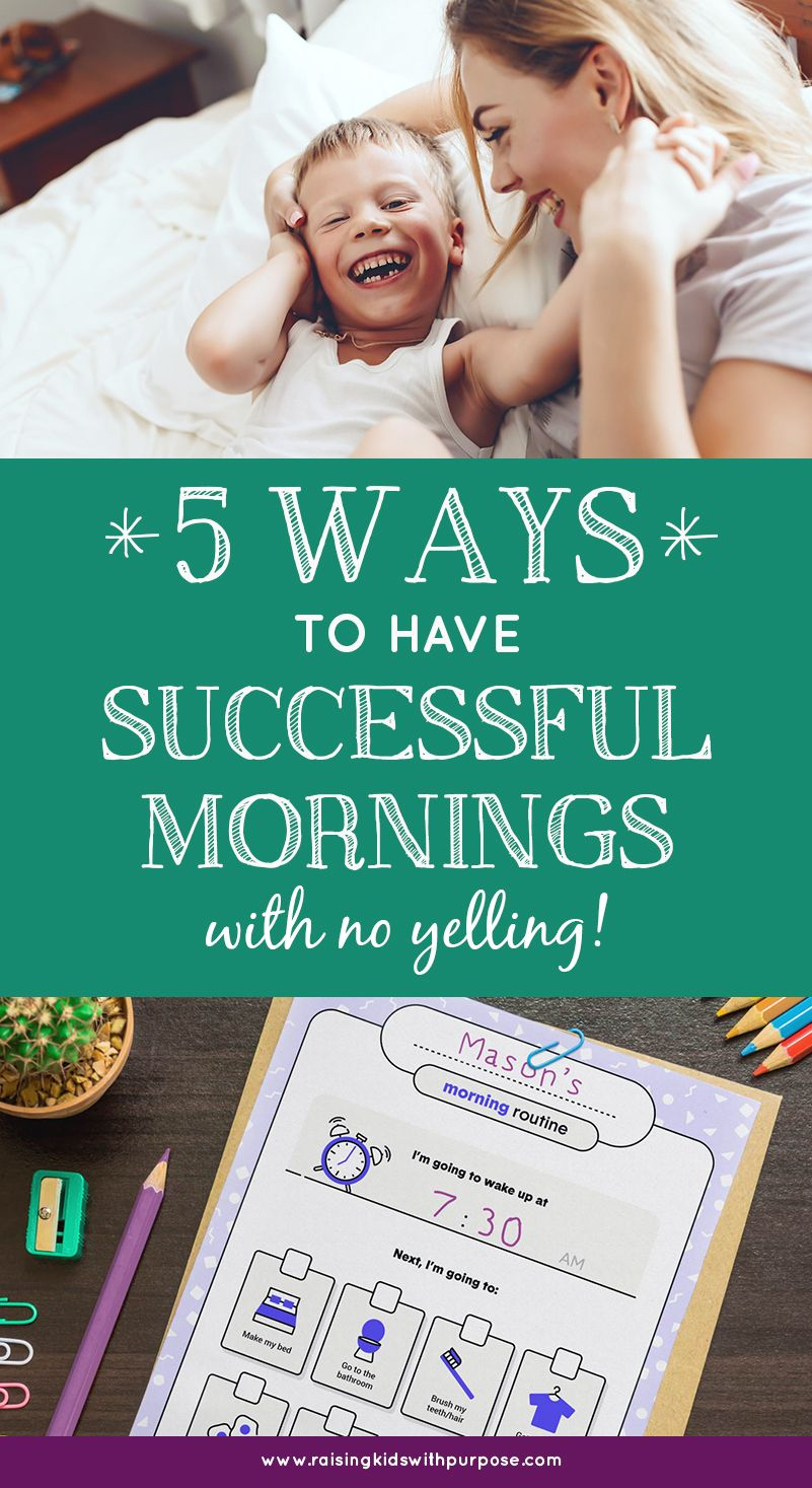 How To Destress Your Mornings With Kids Raising Kids With Purpose Raising Kids Destress Parent Child Relationship
