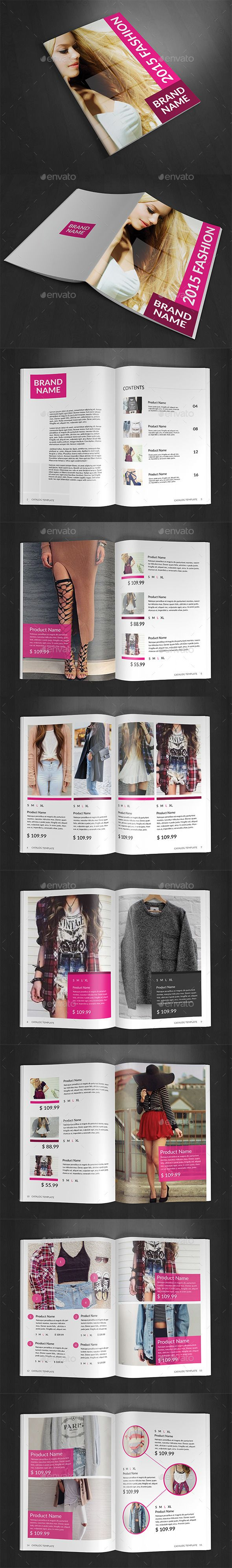 Product Fashion Catalog  Brochures Template And Brochure Template