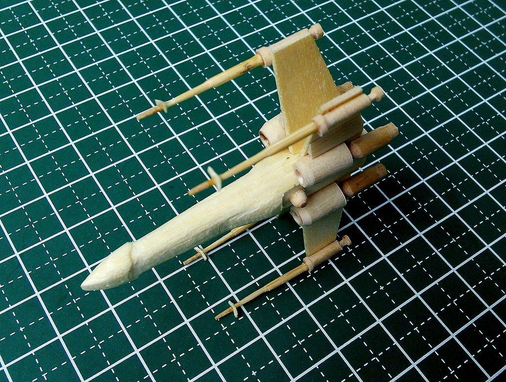 Mini X wing popsicle stick model