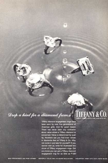 Diamonds Are Forever Tiffany Co Black White 5 Rings 1965