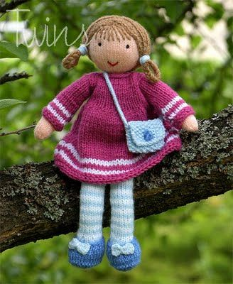Twins' Knitting Pattern MiniShop: Valerie the Doll