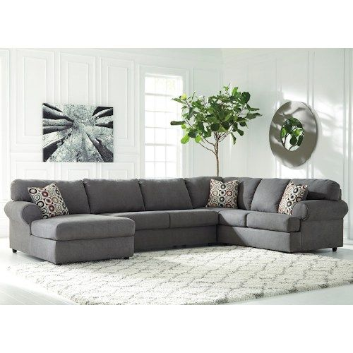 Ashley Signature Design Jayceon 3-Piece Sectional with Left Chaise ...