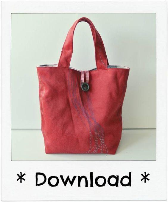 a6f3fa38757 Patroon Omkeerbaar Tasje - By MiekK | Shopper - Bag patterns to sew ...
