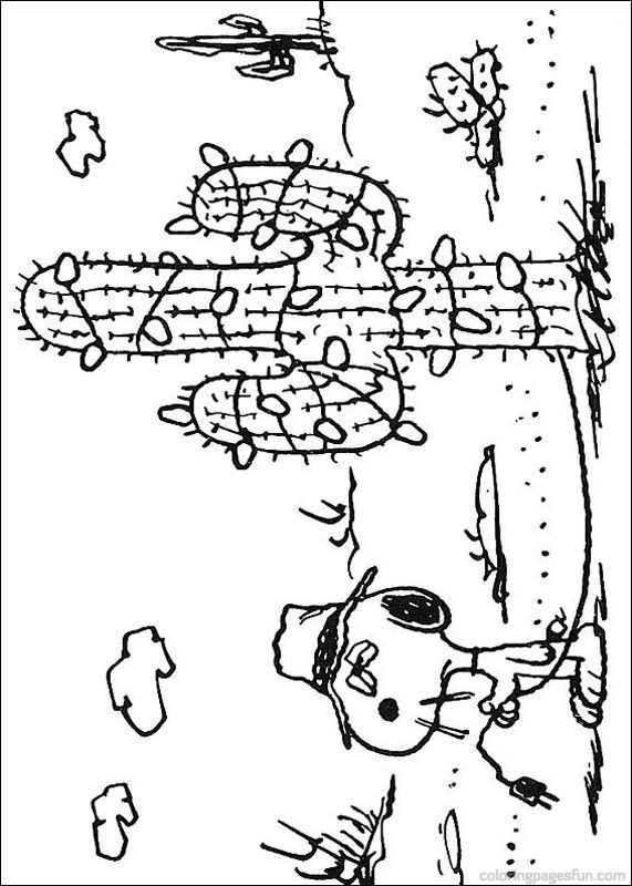 Snoopy Coloring Pages 7