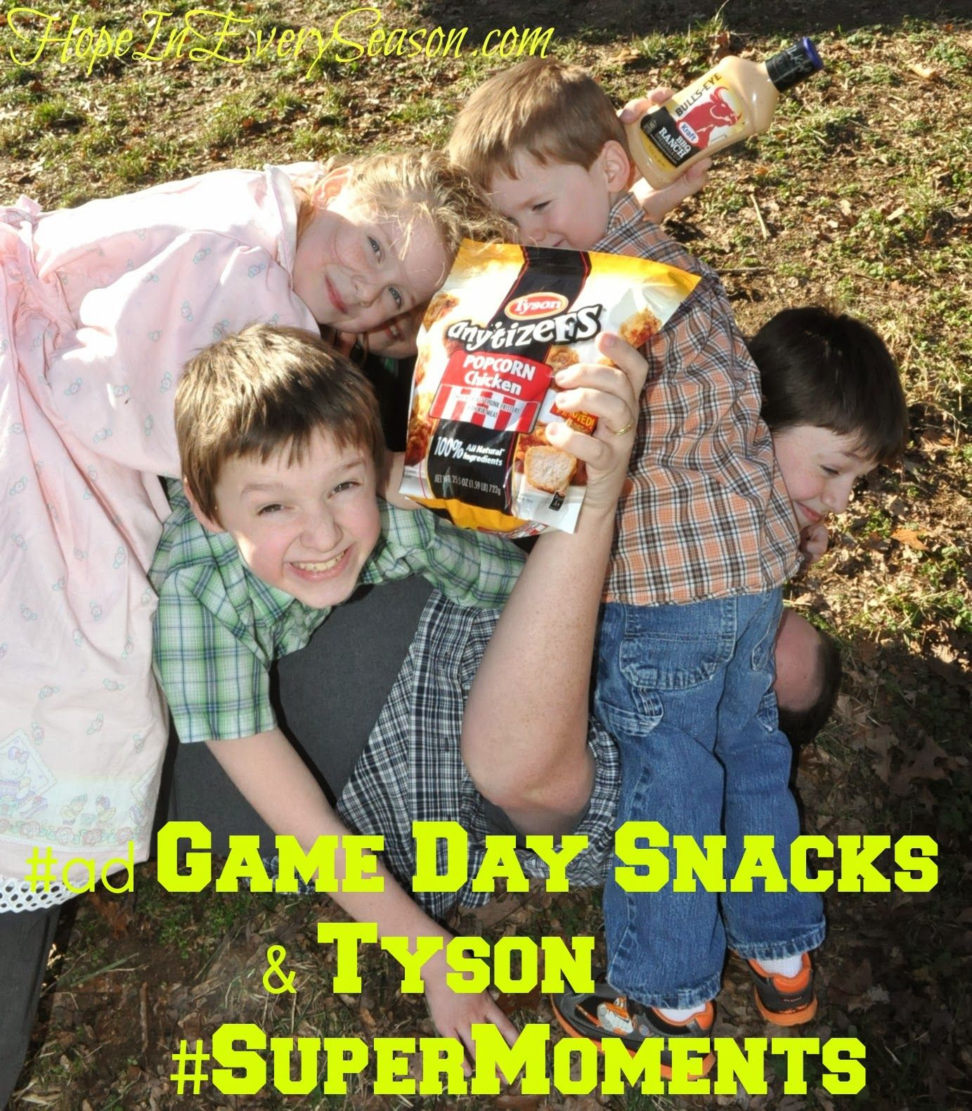 #ad Game Day Snacks & Tyson #SuperMoments #cbias Super Bowl snacks