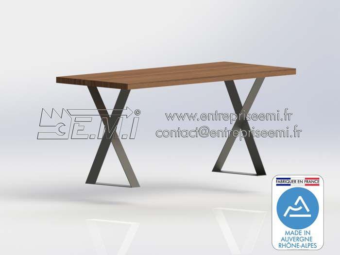 pieds de table z design acier ou inox sur mesure. fabriquer en