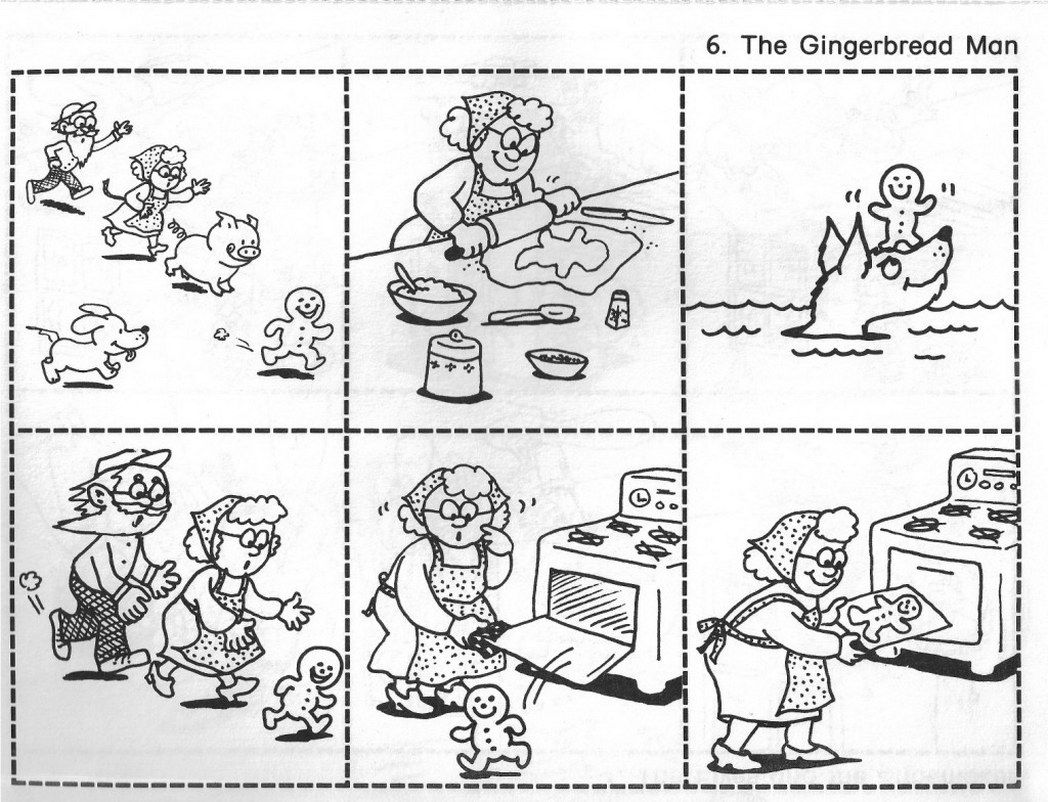 Colouring Pages Gingerbread Man Story Free Get This