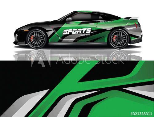 Sports car wrapping decal design , #spon, #car, #Sports, #wrapping, #design, #decal #Ad