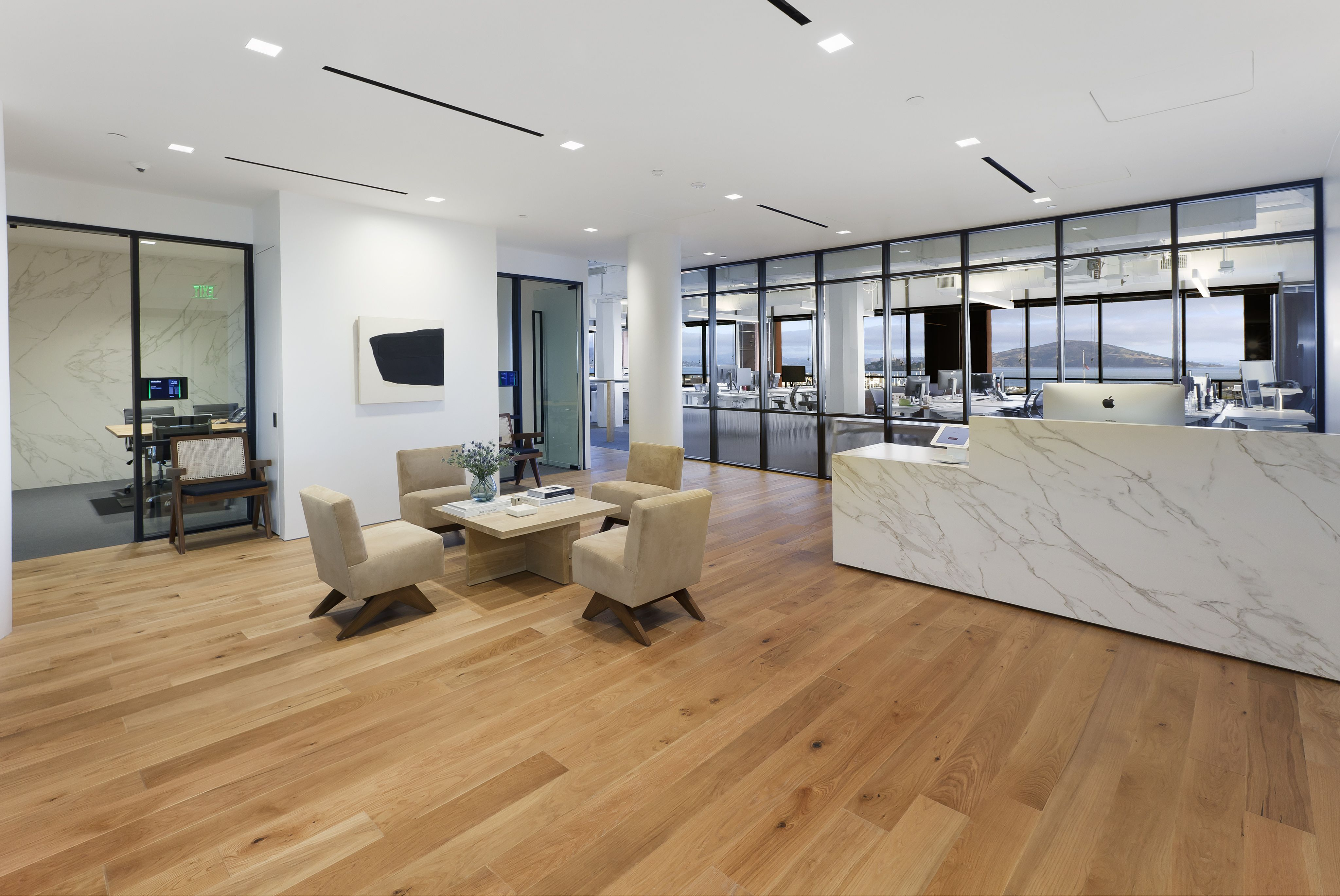 Siena engineered wood natural color installation at the real real