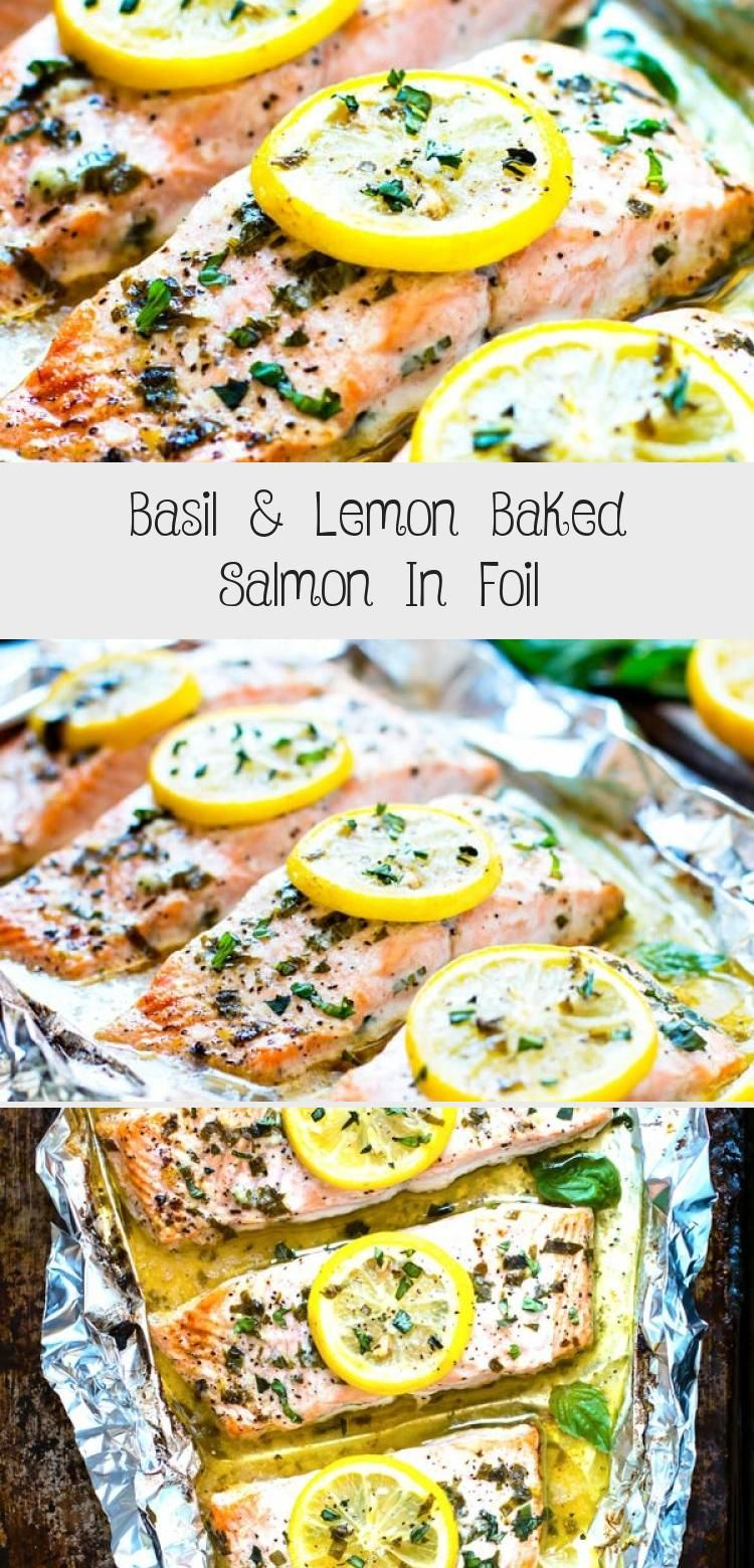 Photo of Basil & Lemon Baked Salmon In Foil – Health