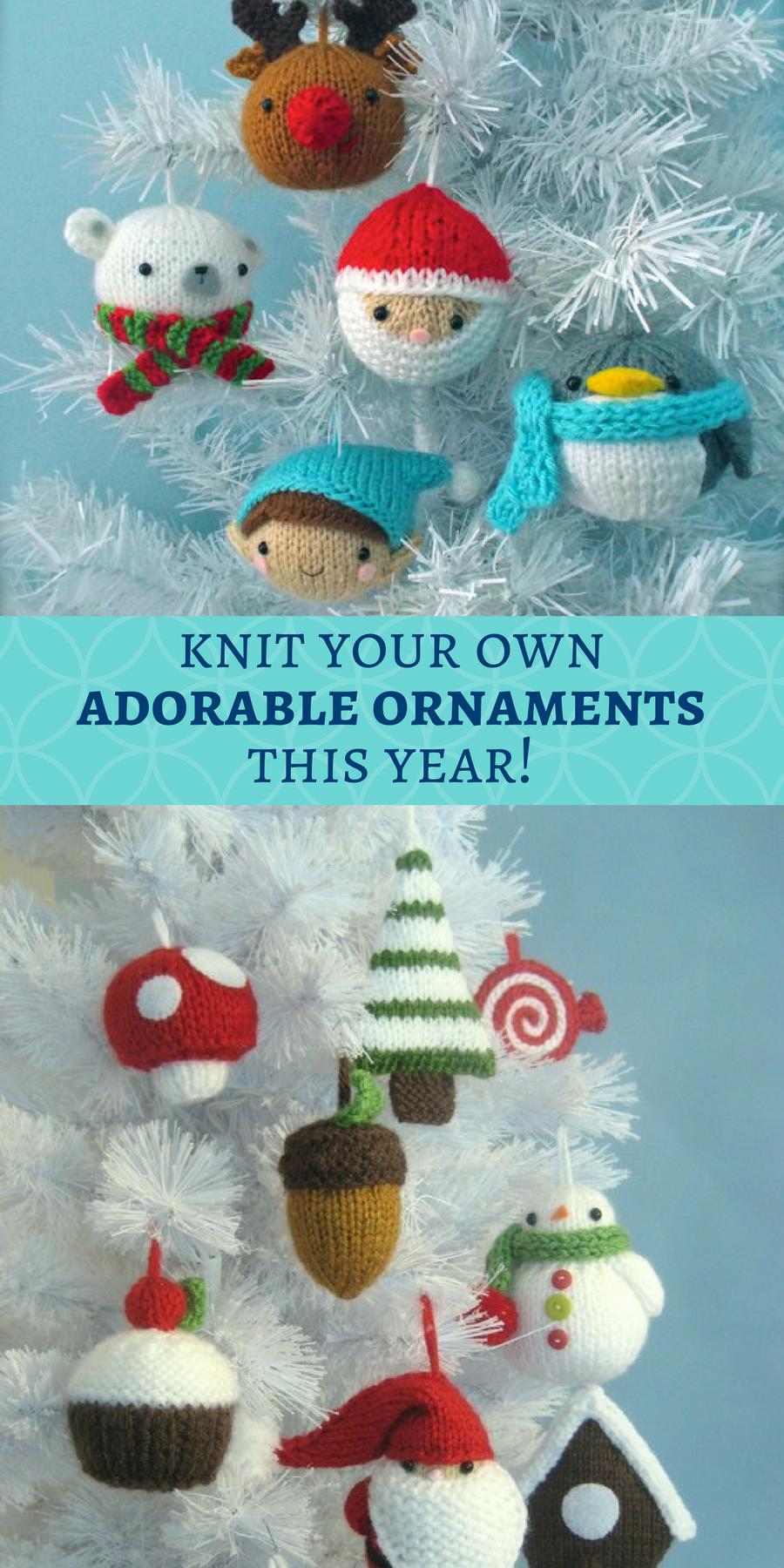Fun DIY knitted christmas ornaments you can make this year! Santa ...