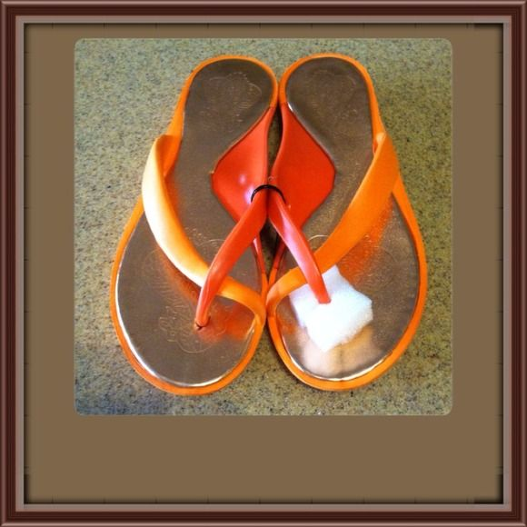 Orange Delight Slip On Super cute orange Jelly Slip-on. Brand New. Size 7-8. Very cute on anyone's feet Price is firm unless bundled. Please feel free to ask me any questions you might have. Thank you Shoes