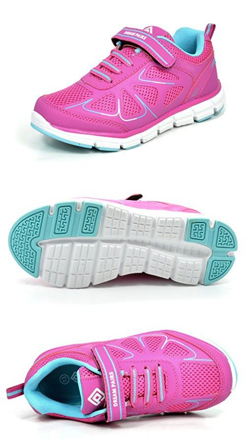 DREAM PAIRS Kid's Water Shoes Athletic Lightweight Walking Shoes Sneakers Pink