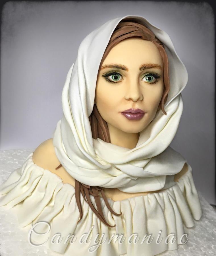 Woman in white by Mania M. - CandymaniaC