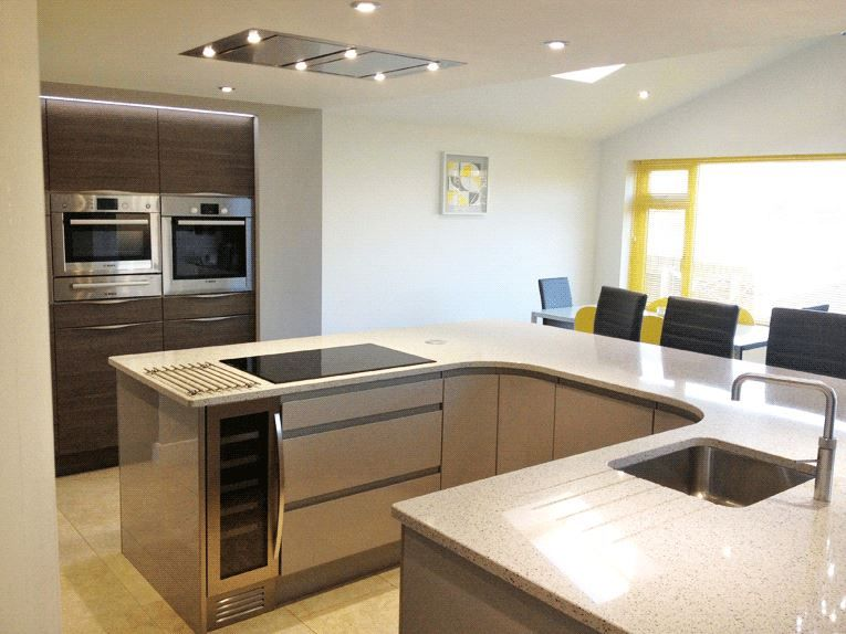 Best Atlantis Kitchens Project Kendal Handleless Gloss Grey 400 x 300