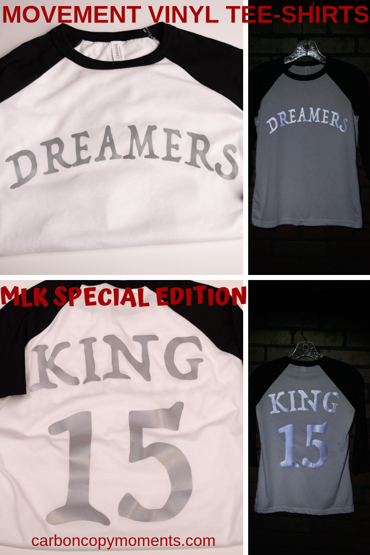 In Observance Of Mlk Day 2019 Mvt Designed T Shirts To Signify A Date And Time Of Reflection We Used Reflective Vinyl On A Bla Tee Shirts Shirts The Dreamers