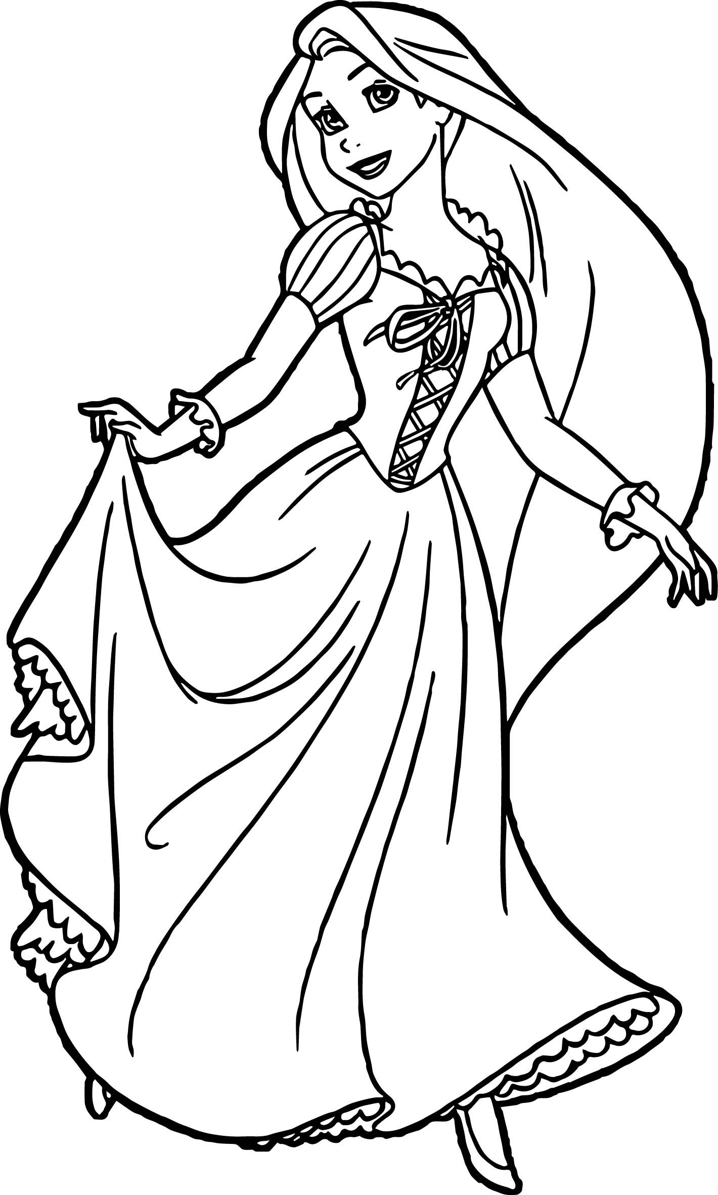Nice Rapunzel And Flynn Ready Coloring Page Disney Princess Coloring Pages Tangled Coloring Pages Rapunzel Coloring Pages
