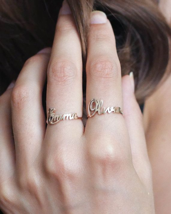 37079ab52f Custom Name Ring • Children Name Ring • Sterling Silver Ring ...