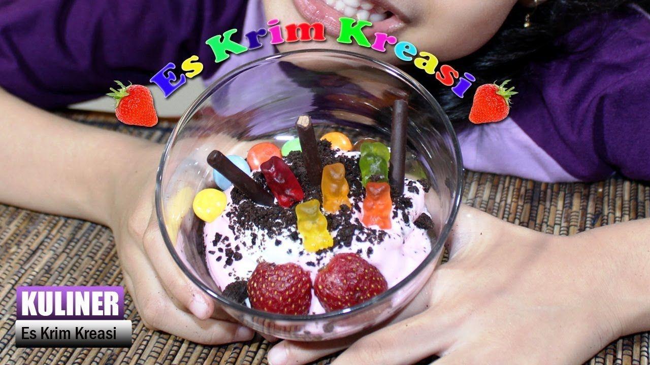 Ice cream creations es krim krim makanan