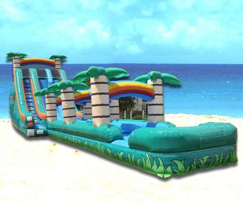 Jacksonville Giant Tropical Water Slide Rental Coastal Moonwalks Inflatable Games Jacksonville Fl Water Slide Rentals Bounce House Rentals Water Slides