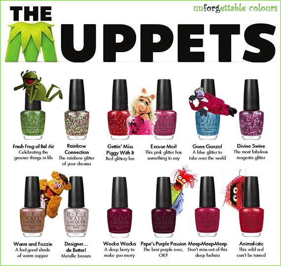 opi muppet collection