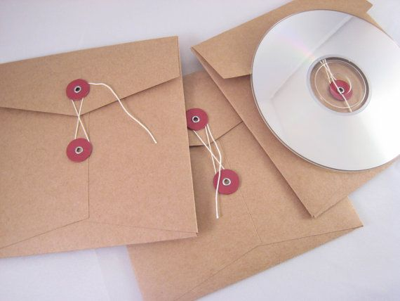Items Similar To String Tie Envelope Cd Wedding Pictures Closure Square Envelopes Qty 10 On Etsy