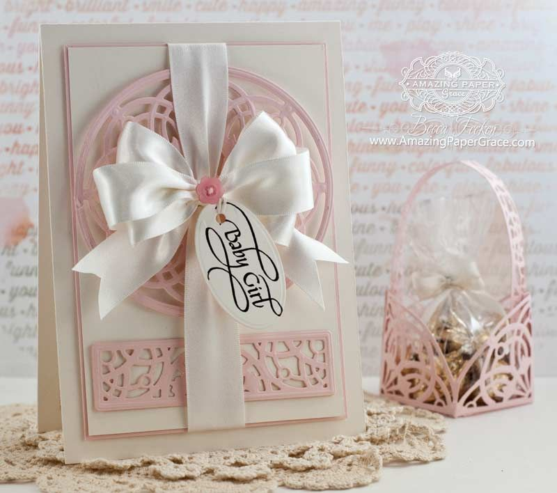 Delightful Card Making Ideas Baby Part - 3: Baby Card Making Ideas By Becca Feeken Using Quietfire Design And  Spellbinders Arched Elegance And Arched