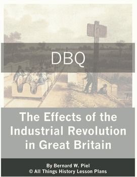 This Document Based Question Dbq Takes A Look At The Industrial