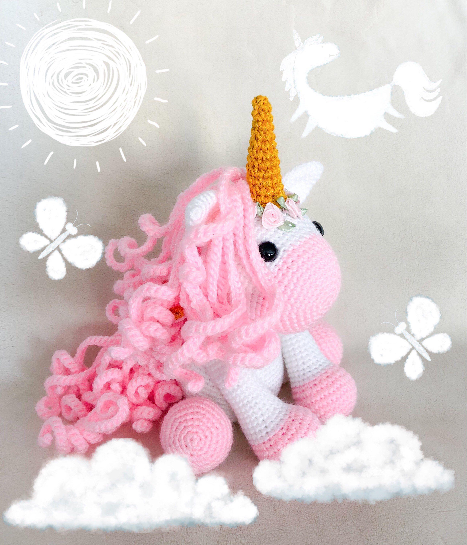 Free Crochet Pattern: Baby Pegasus or winged Unicorn Amigurumi ... | 3000x2575