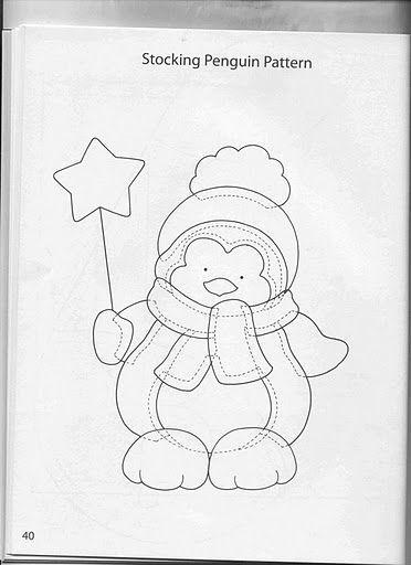 pinguino | Mas Navidad | Navidad, Moldes y Patchwork