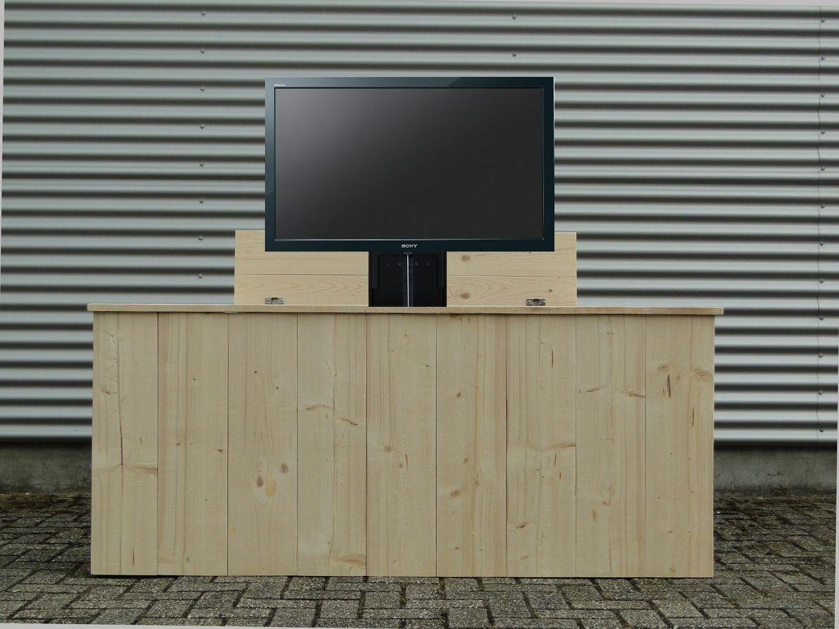 Steigerhouten Tv Kast : Tv kast met lift wood model wood is gemaakt van steigerhout en