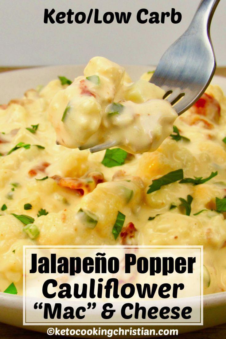 Jalapeño Popper Cauliflower Mac' and Cheese - Keto/Low Carb