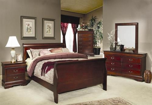 Louis Philippe Cherry Bedroom | Bedroom Sets & Collections