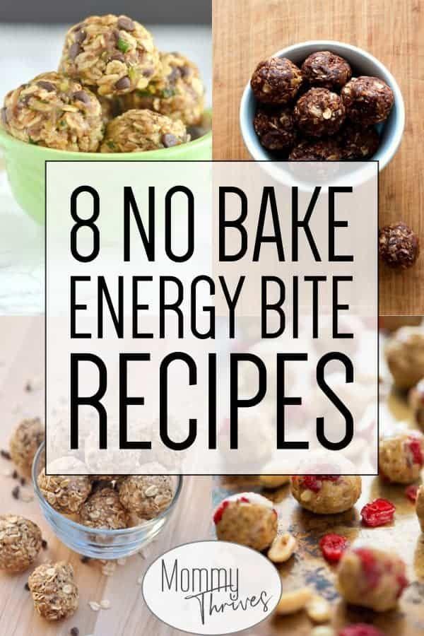 Easy Energy Bite Recipes For Snacks - No Bake Energy Bites That Are Healthy - 8 No Bake Energy Bite...