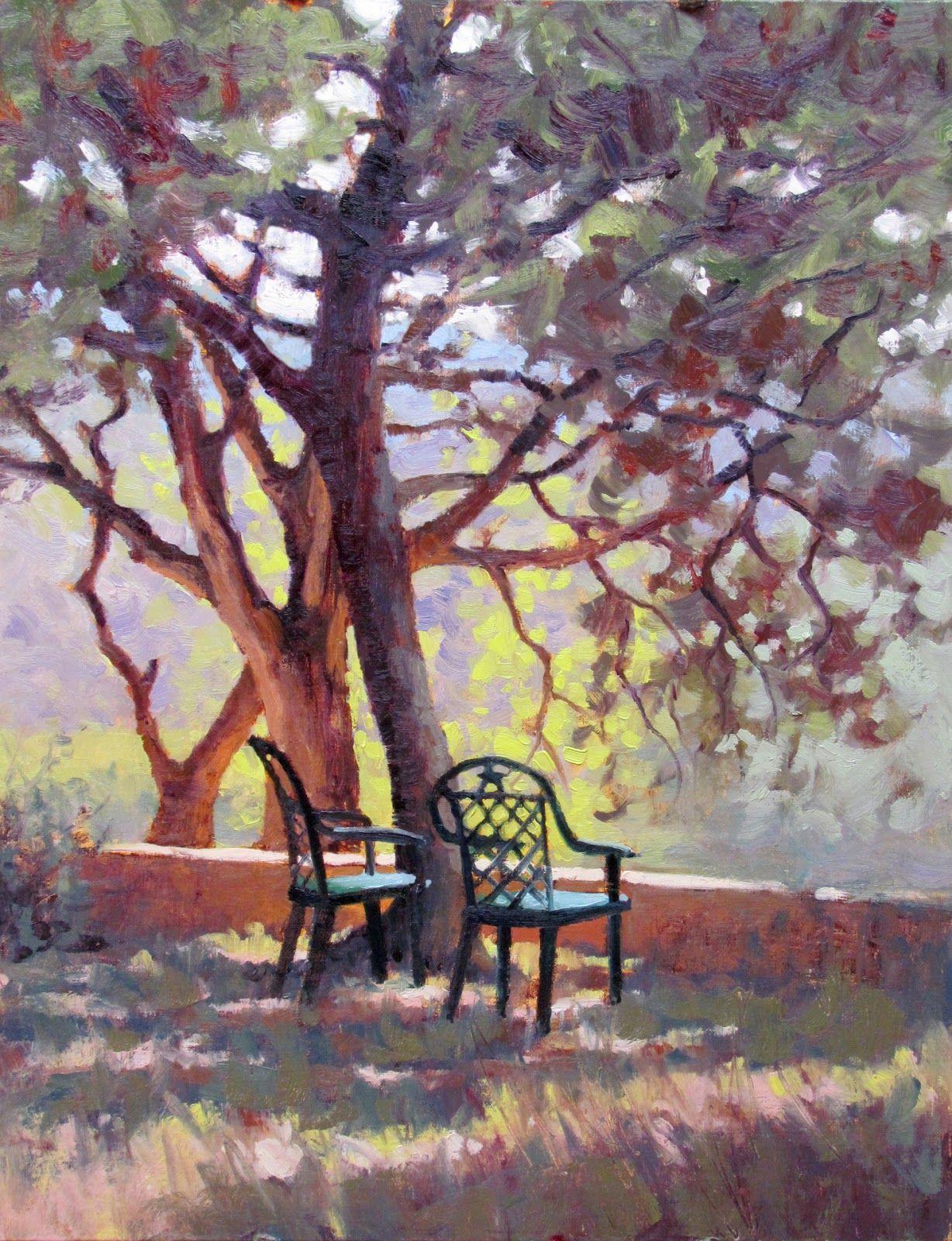 """HILLTOP PERCH"" plein air and studio landscape painting"