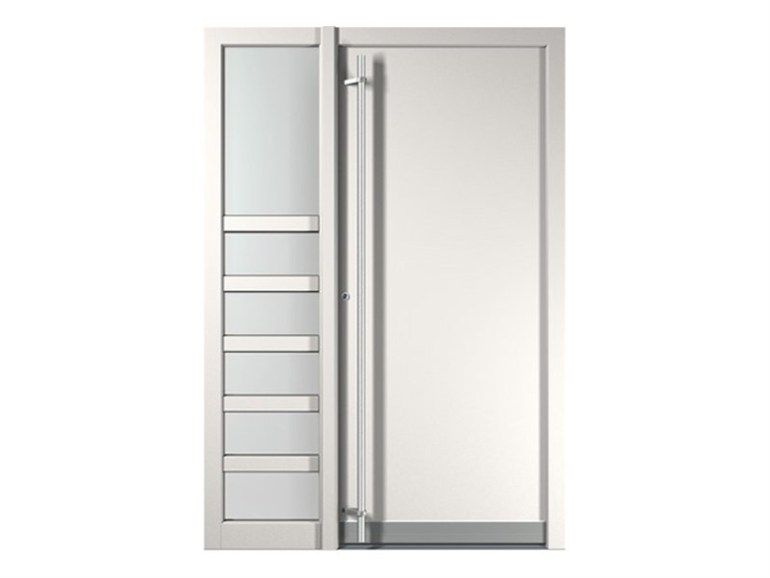 PVC ENTRY DOOR AND SMALL ENTRY DOOR NOVA BY FINSTRAL Vitalegno