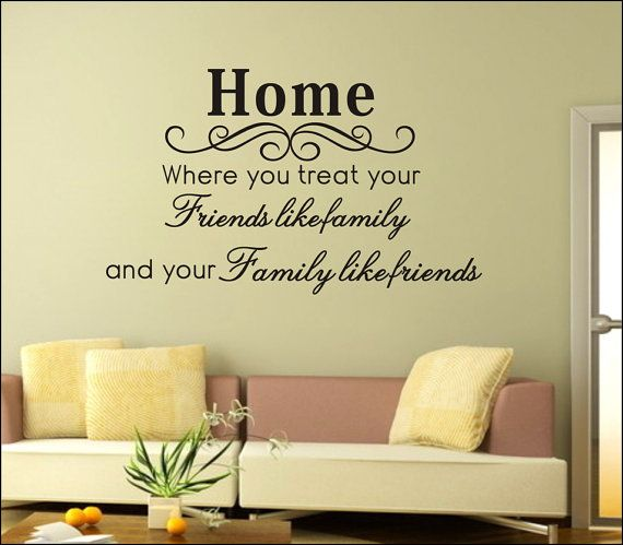 Wall Decal Vinyl Sticker DIY Words Letter Quote Art by HomeDecorC ...