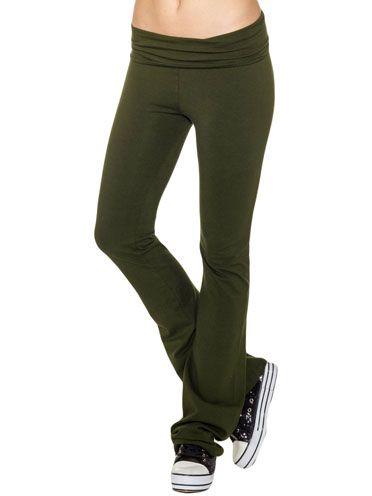 9c697ad269a73 Fold-Over Waist Yoga Pants | RP Boutique: Yoga Pants | Yoga Pants ...