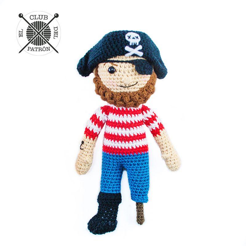 El Club del Patrón: El pirata amigurumi | Crochet | Pinterest ...