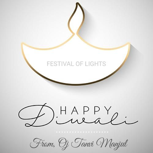 Beautiful Diwali Wishes Diya 3D Greeting Card With Name #diwaliwishes