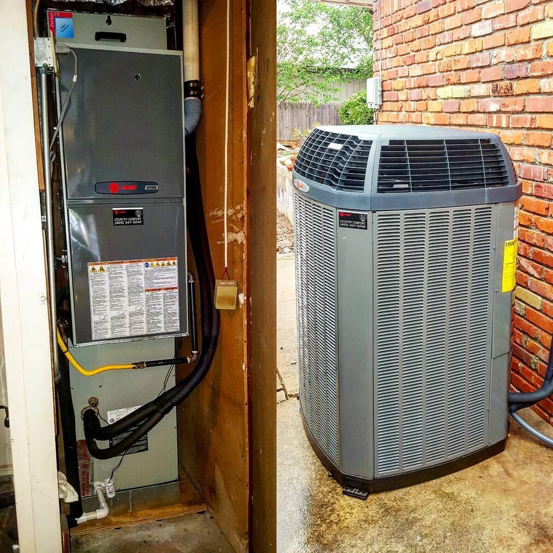 Heatnairguynew Xv95 80 000 Btu Multistage Furnace And Xl18i 3ton A C Trane Highefficiency Homeimprovement Savemoney Furnace Airco Hvac Tech Trane Hvac