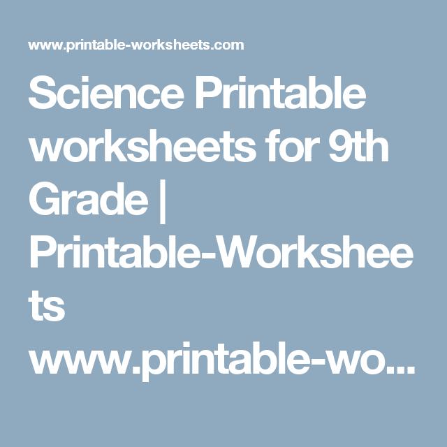 picture regarding 9th Grade Printable Worksheets called Science Printable worksheets for 9th Quality Printable